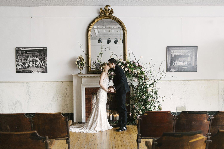 micro wedding at hudson hall ny